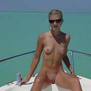 A very sexy and rich bitch posing for your pleasure on their boat