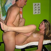 A hot swinging couple enjoying a hot three sum with a new fuck buddy