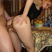 Lovely and sexy MILF with a stunning toned body being screwed analy