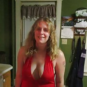My little red dress never wear panties or bra