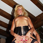 Coco The Blonde Slut fucking in public and sucking cocks