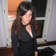 A stunning wife posing and having fun with her lover