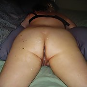 Wife needing more cum inside after bareback sex