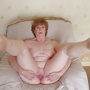 Karen sexy milf spreading for you mature granny bbw pussy lips