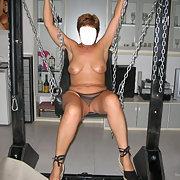 Alcuni scatti sola prima di incontrare amico bondage chair