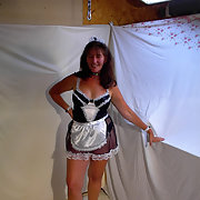 Joanne Delany is feeling sexy again wearing French maid outfit