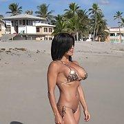 busty beach lady