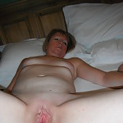 Wifes shaved pussy up close masturbating clitoris feels nice