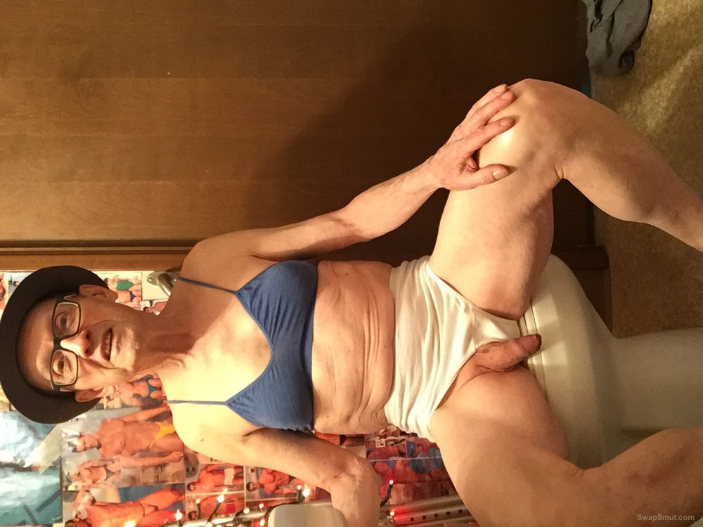 Exposed Faggot Pervert Slut Wears Stetson, Lingerie And Red Toenails