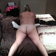 My beautiful big arse wife playing with her pussy