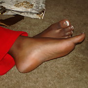 The Sexy black beautiful feet of Lee a former friend with sensuous toe