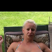 Amazingly hot blonde milf with perfect big boobs