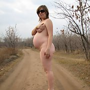 Pregnant wife pics shot in public place fully nude