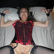 Chinese MILF lady loves to show it off wearing sexy lingerie oral sex