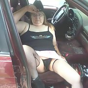 Back seat Betty goes on a camping trip with a bunch of biker's and get's asked to pose nude