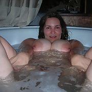Having A Little Fun In The Tub BBW Homemade Amateur Porn Photos