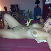 Come and look at my beautiful wife naked and flashing her privates