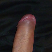 uncut cock with precum