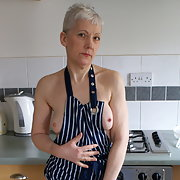 More fun in the kitchen in my new apron making saucy amateur pictures