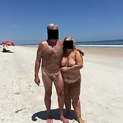 Our first trip to a nude beach, you can see we enjoyed it