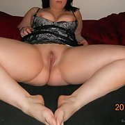Just old chubby me posing for hubby and getting it good