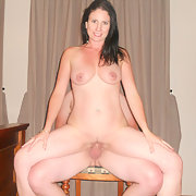 Milf wife masturbating and screwing another man in the bedroom