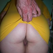 Big sweet ass on a very hot mature lady bent over showing pink
