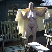 Pauline nude in garden nice comments please love to be nude