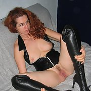 Redhead milf masturbating vagina and anus with sex toy