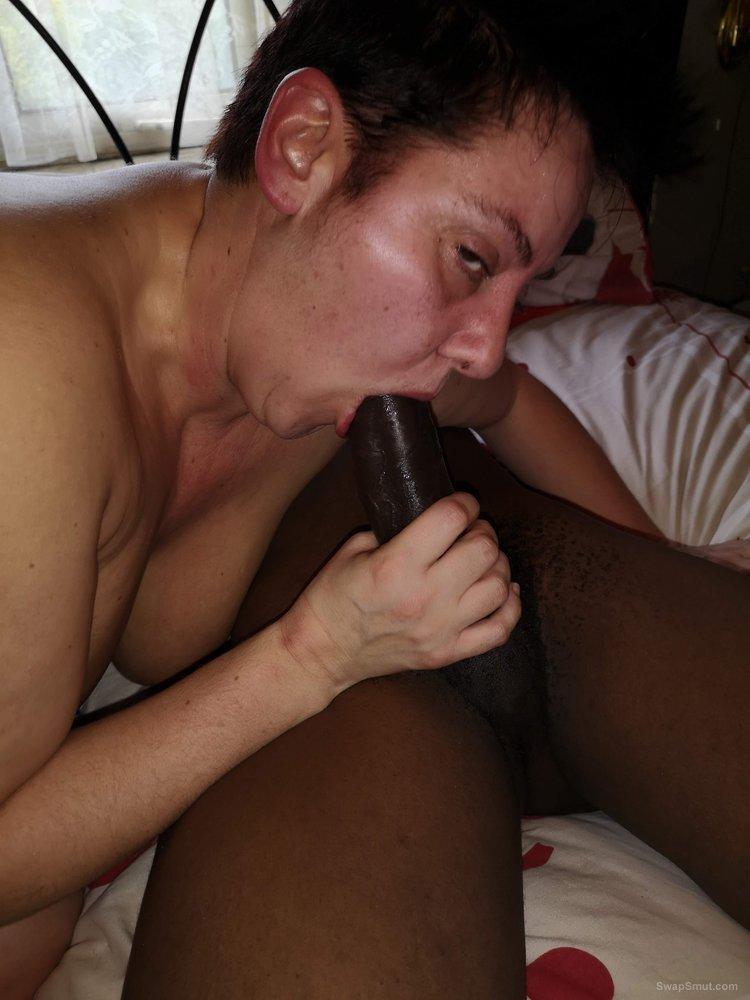 Hot dirty slut wife jo fucked bareback and black bred