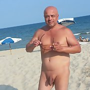 EXPOSED NAKED ON PUBLIC BEACH FOR ALL TO SEE