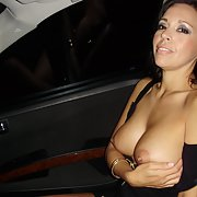 My MILF horny as hell wearing sexy lingerie even showing pussy in car