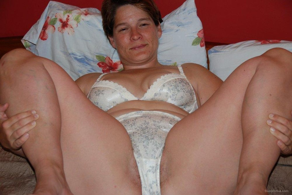 White Satin Panties - Ass & Hairy Pussy