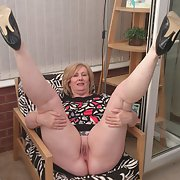 Karen mature conservatory strip showing off pussy and ass