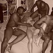 Cuckold blonde milf wild night of fucking with blacks
