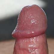 Extreme close up of my cock while very hard