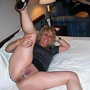 Cum filled mature woman proudly revealing her creampie jizz pussy