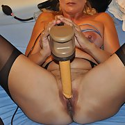 Mature fuck slut enjoying more toys