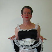 Pretty nightie and cute little shoes male amateur cross dresser