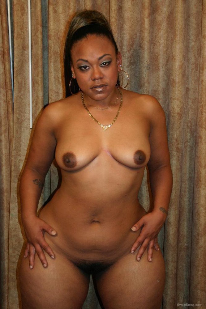 Thick hot ebony friend stripping