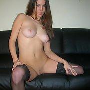 Lovely amateur brunette exposed her body part 2