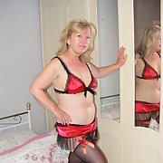 Black and Red Saucy and Right For Bed Naughty Lingerie Home Pics