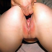 Slut wife butt and pussy lips pulled apart gaping hole to probe
