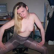 Meine deutsche Ficksau my German slut looking sexy on office chair