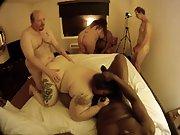 Fat mature women participating in an interracial orgy