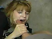 Blonde milf big cock blow and creamy cum facial