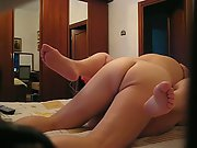 Mature couple screwing in bedroom on a weekend after nice long walk