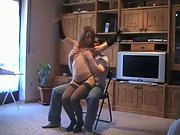 Sexy Wife Lapdances Then Sucks Him Off
