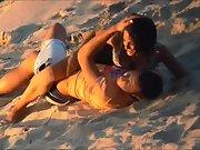 Couple filmed fucking on the beach
