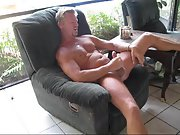 Jacking my cock off for big load